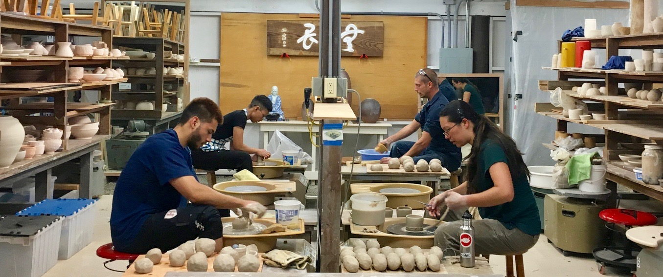 Katrina and other live ins trained in ceramics, Hojo, Kendo and Kado during the April 2019 Live-In Intensive.
