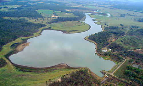 Gordonbrook Dam from the air