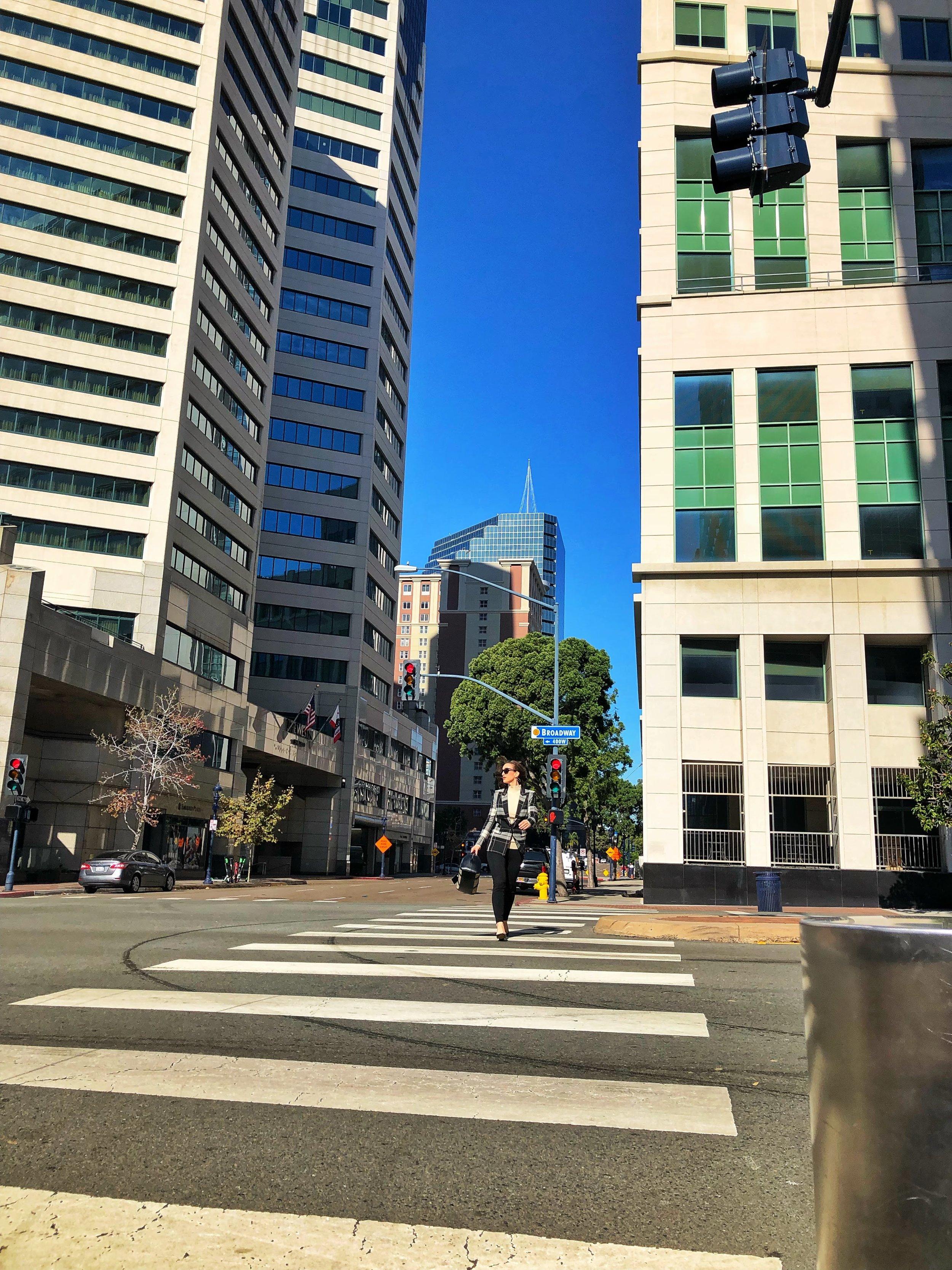 Office Style Downtown San Diego, Emerald Plaza Westin Hotel, Broadway San Diego