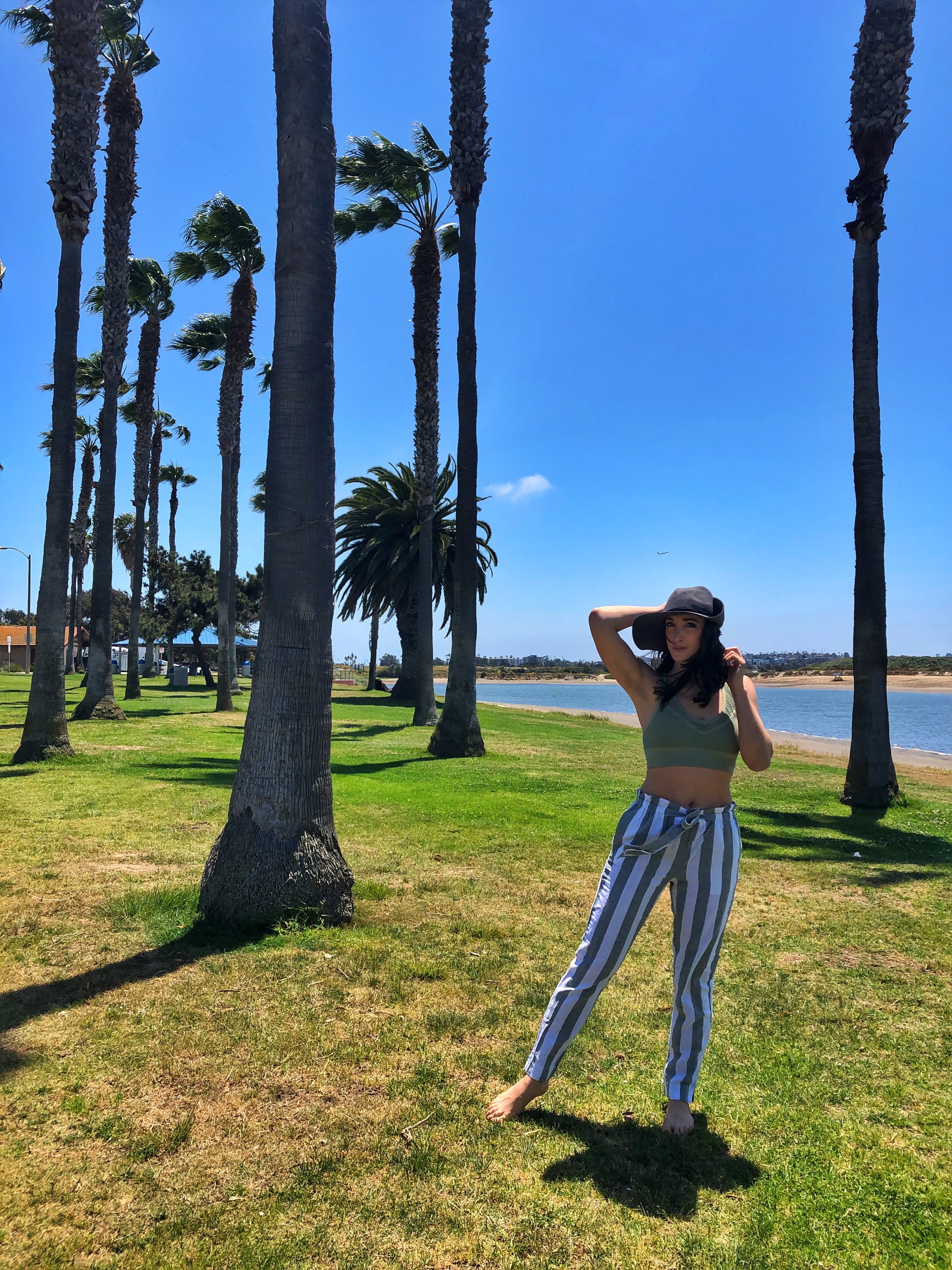 Mission Bay Park. Linen pants in San Diego. Mission Bay. San Diego Style.