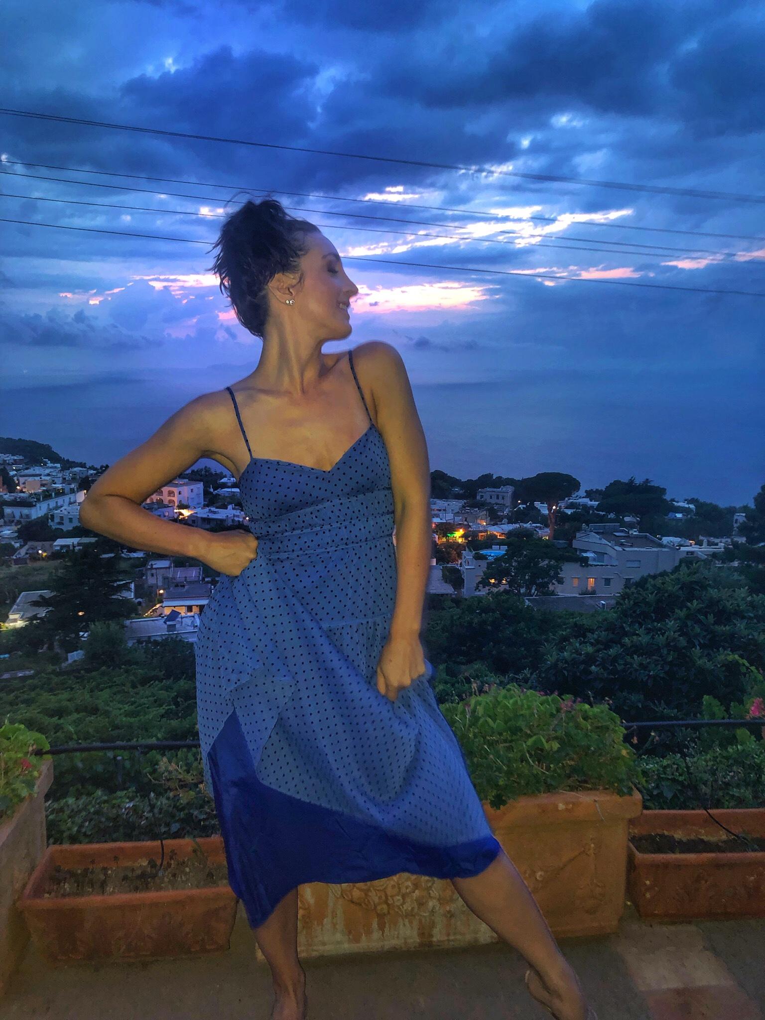 La Madison Talulah dress in Anacapri