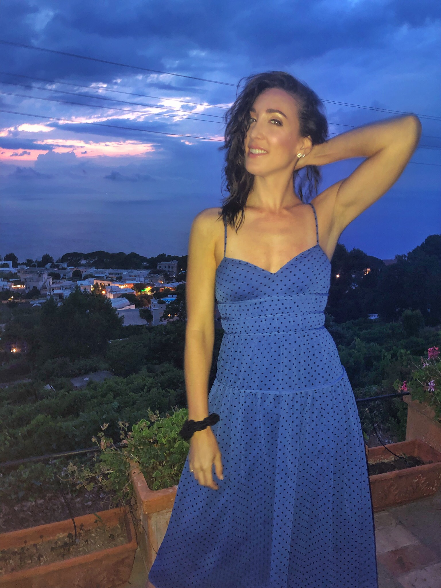 La Madison Talulah dress in Anacapri. Capri, Italy.