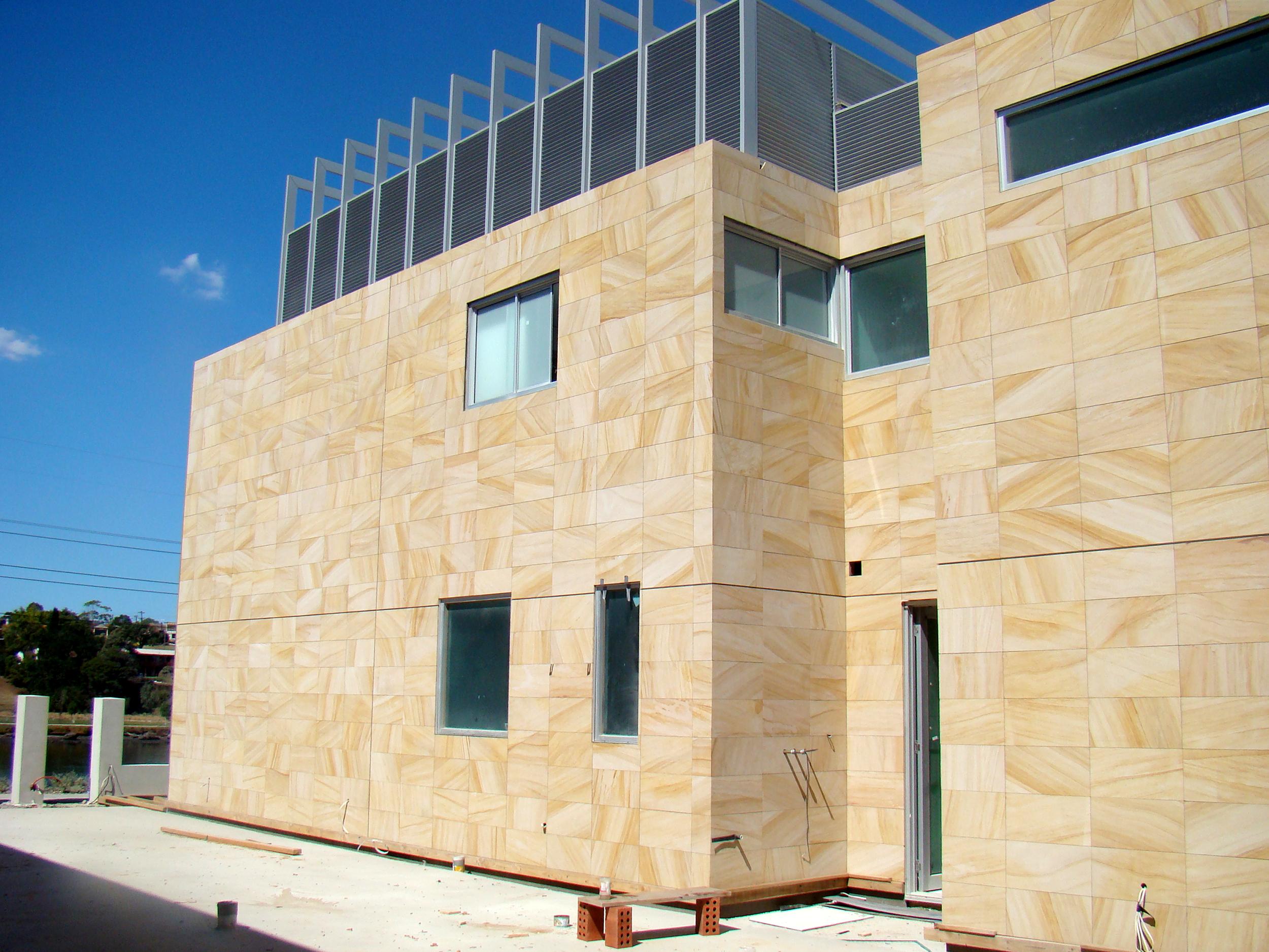 Teakwood Sandstone Wall