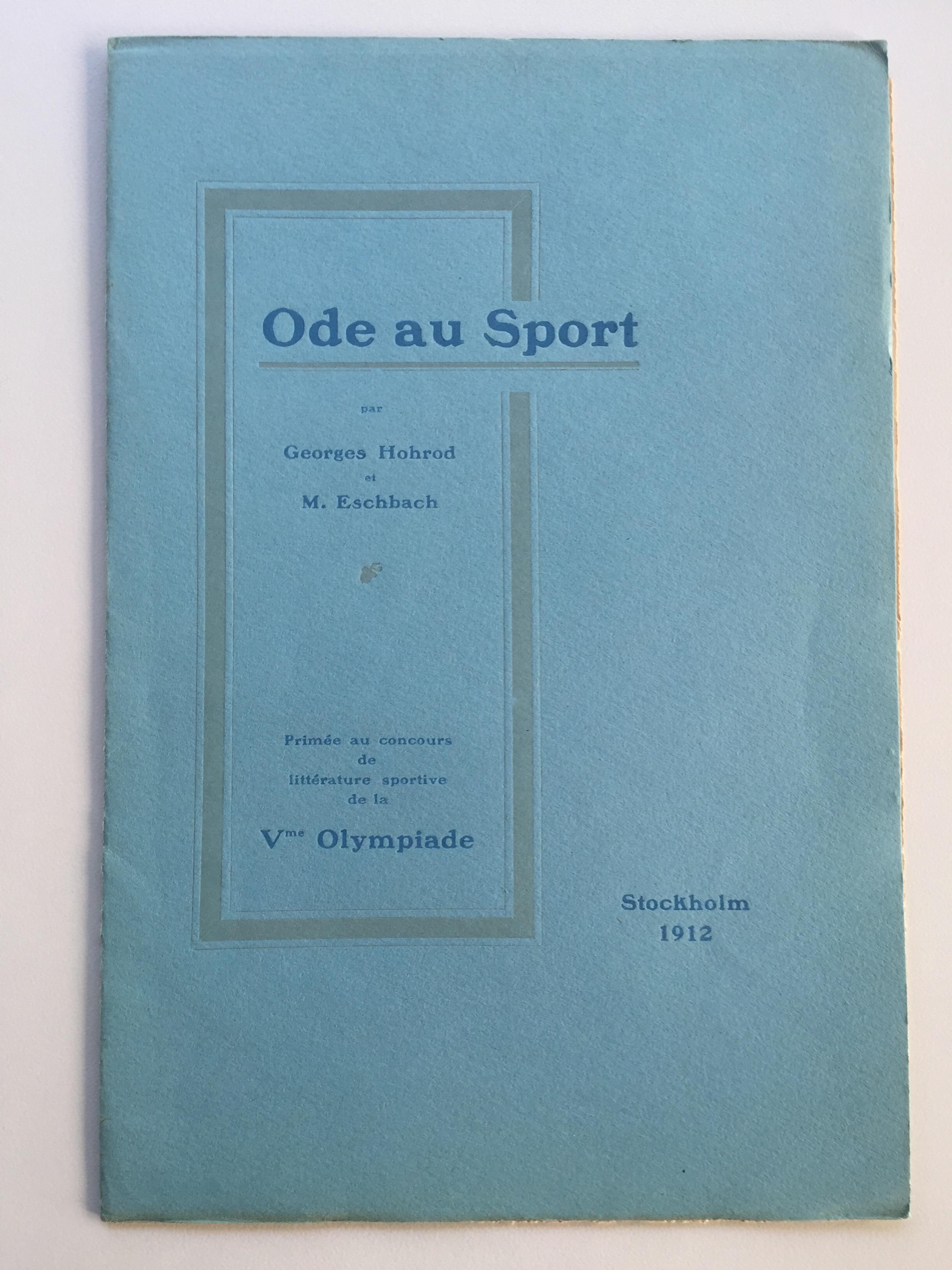 """Pierre de Coubertin, """"Ode to Sport"""""""