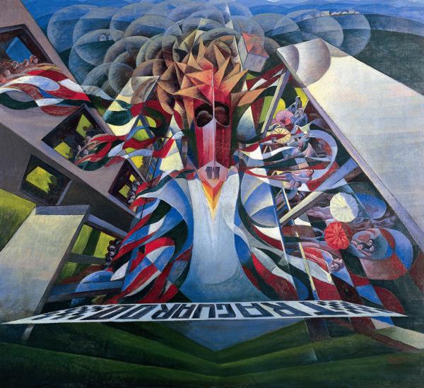 """Gerardo Dottori, """"The Arrival"""""""