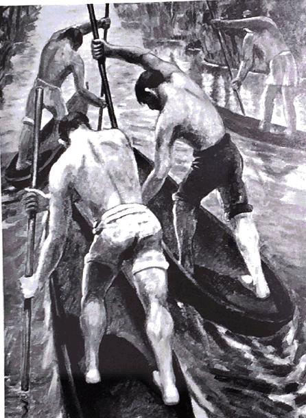 "Antonia Matos, ""Pirogue Race"""