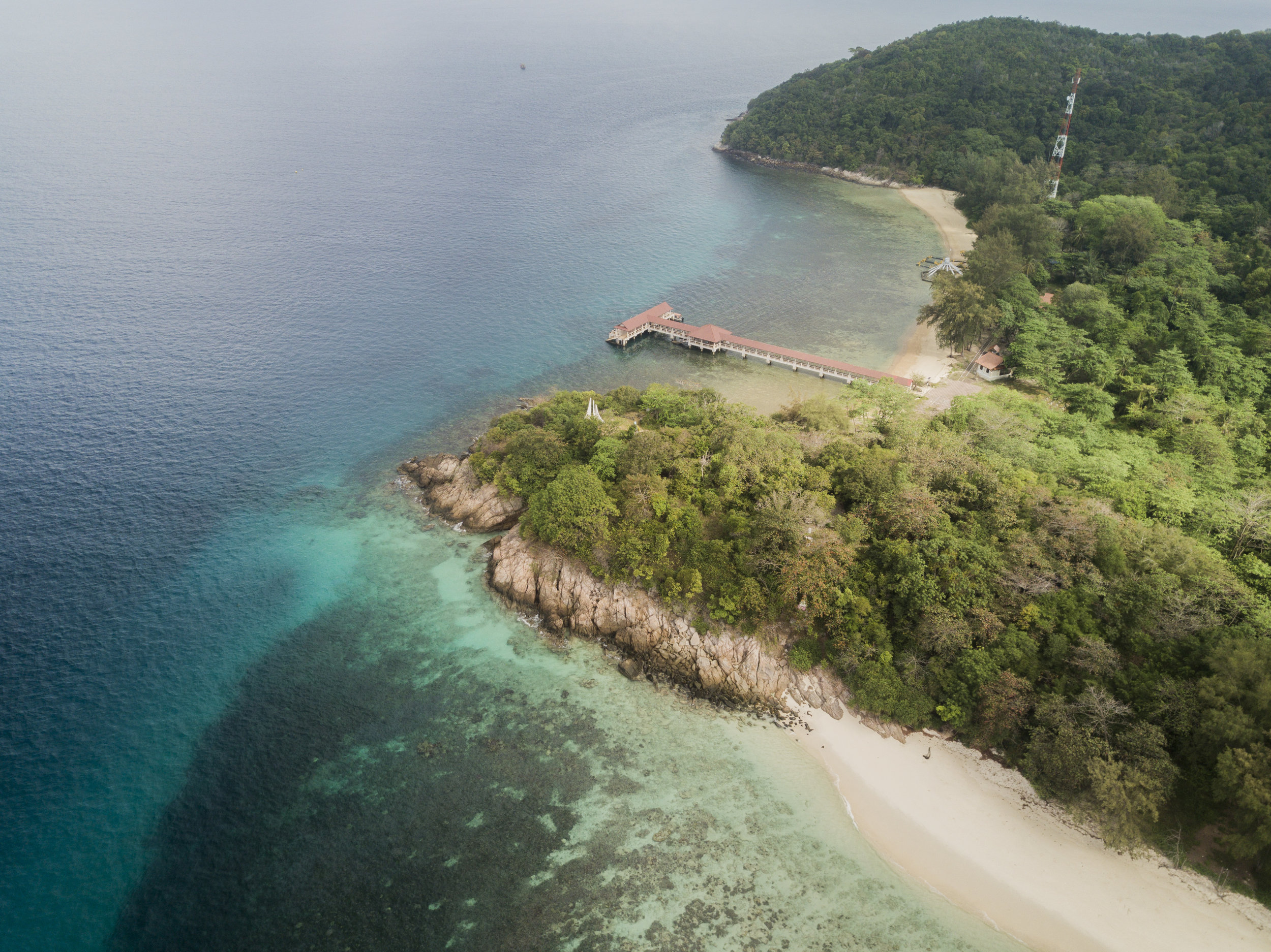 Pulau Bidong's empty beaches in 2018