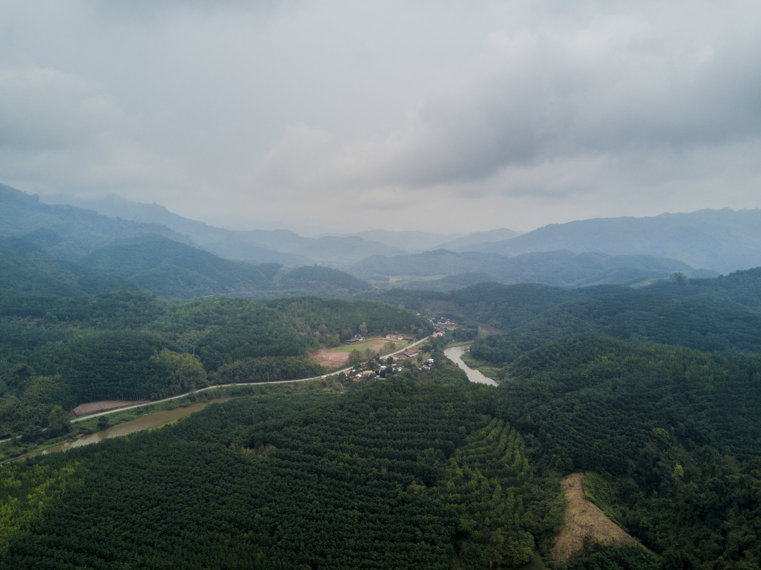 The Nam Tha Valley, looking west.
