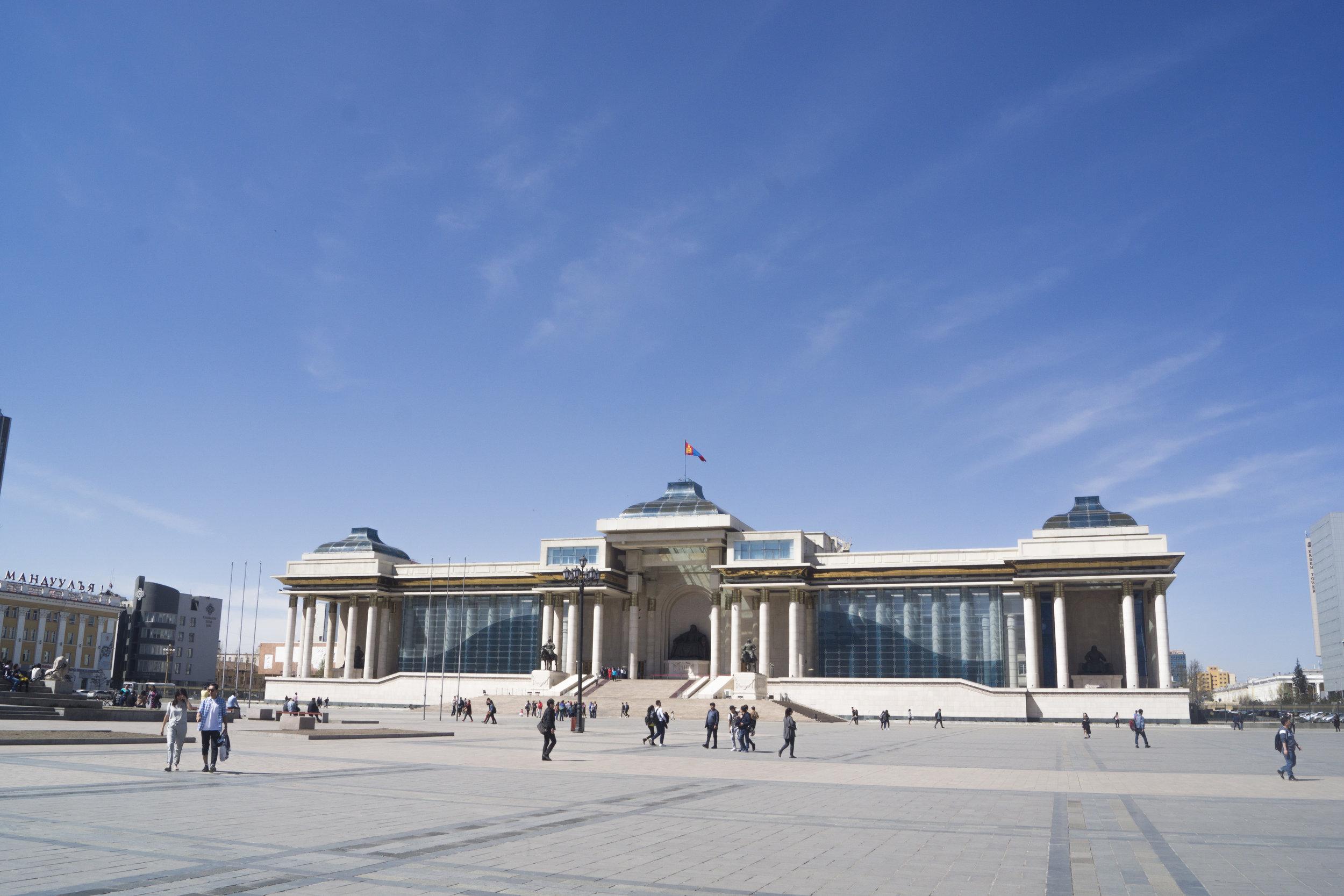 Springtime in Ulaanbaatar.
