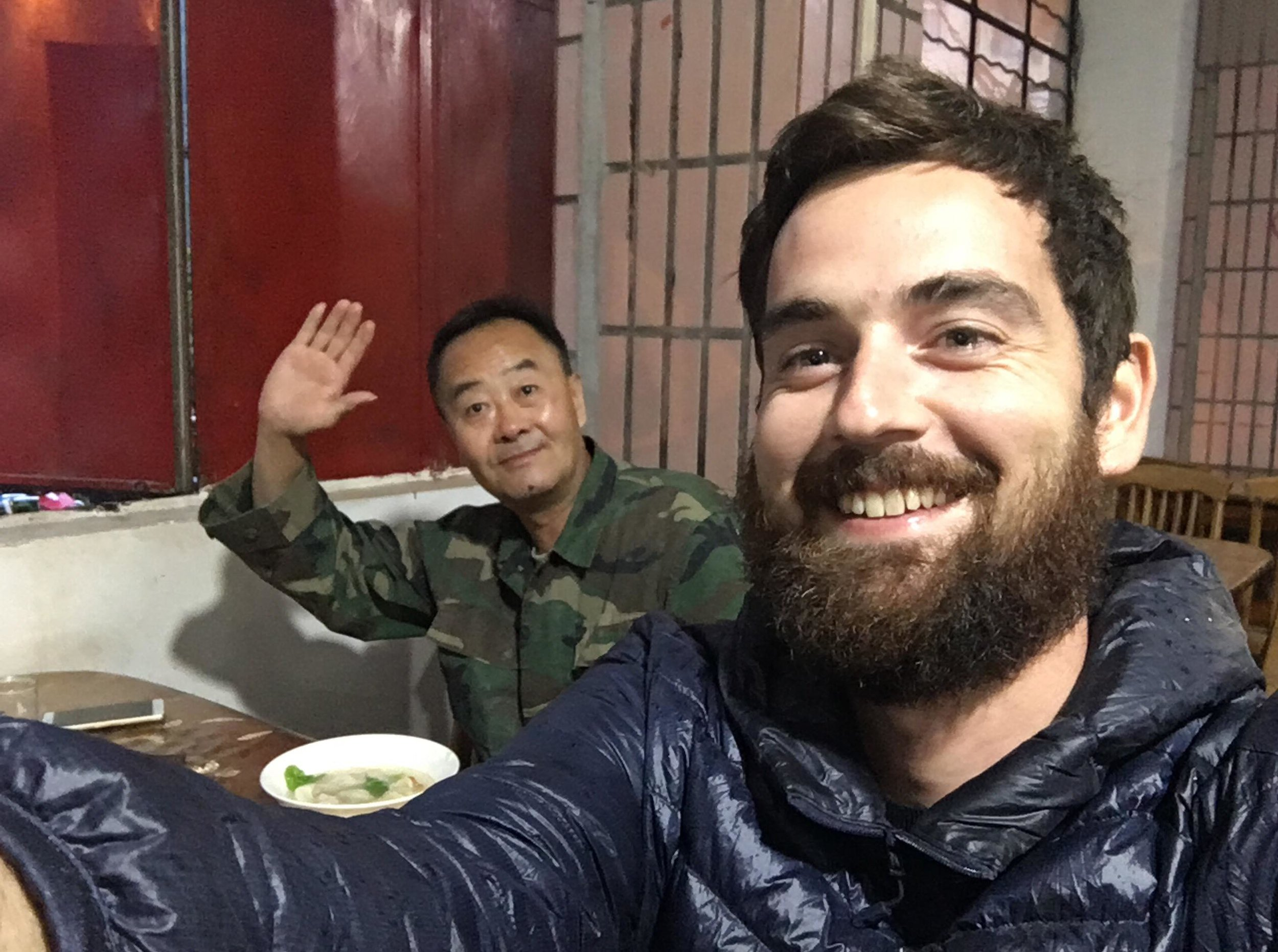 Dinner mates at a Tibetan restaurant in Gongshan.