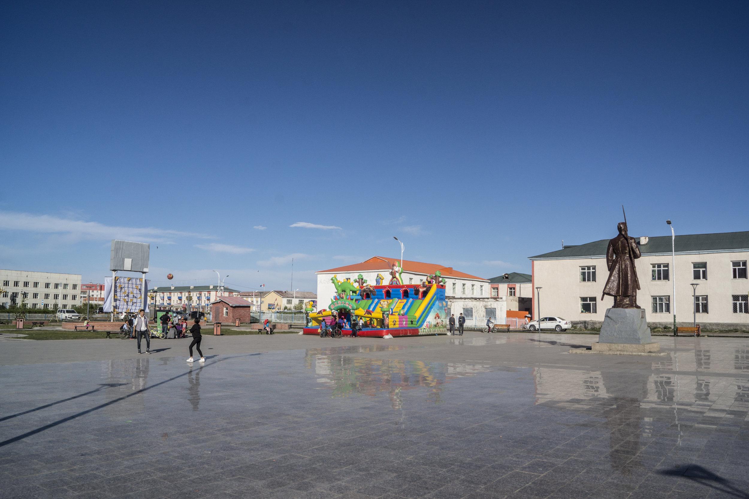 Main square in Ulaangom.