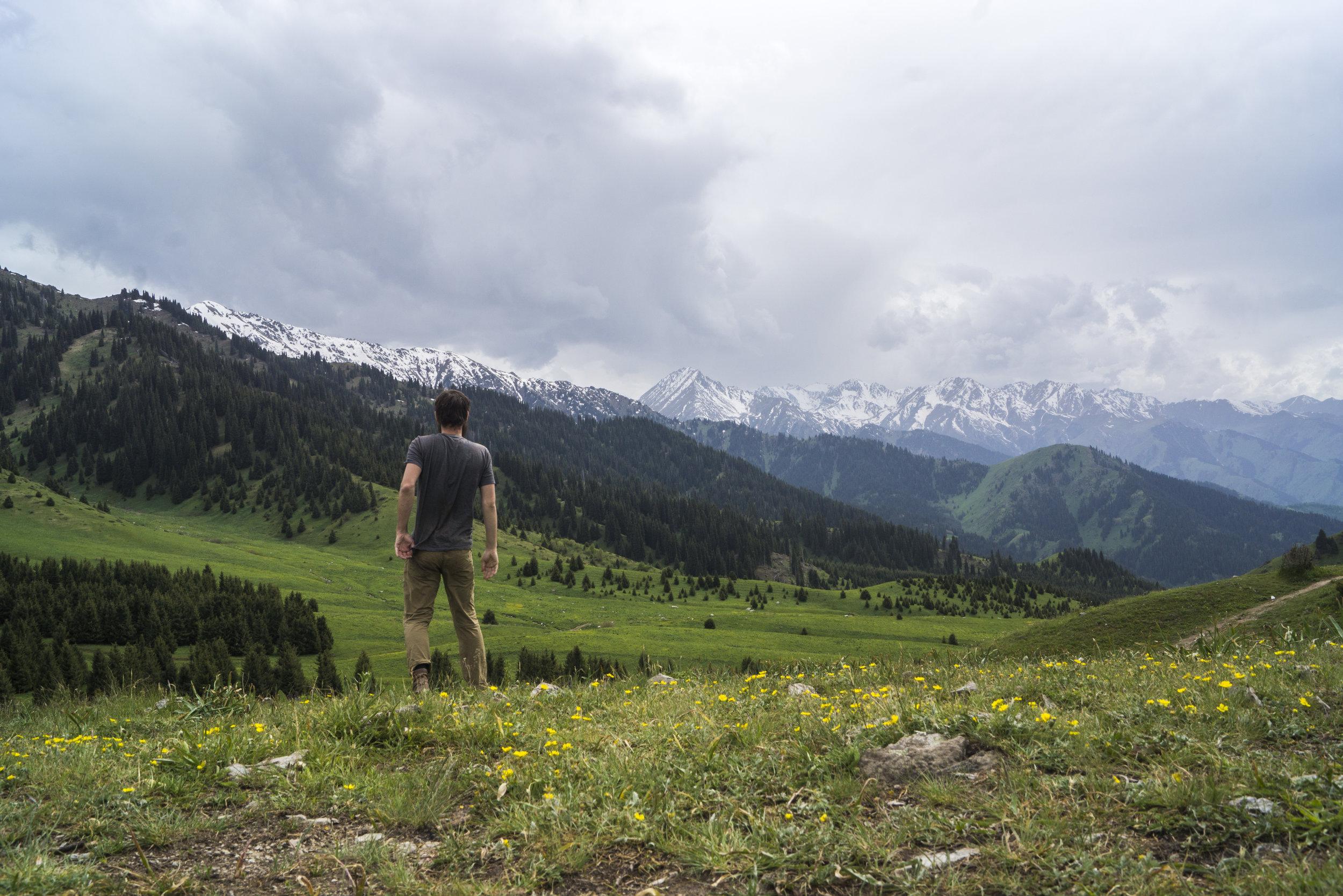 The Tien Shen Mountains near Almaty.