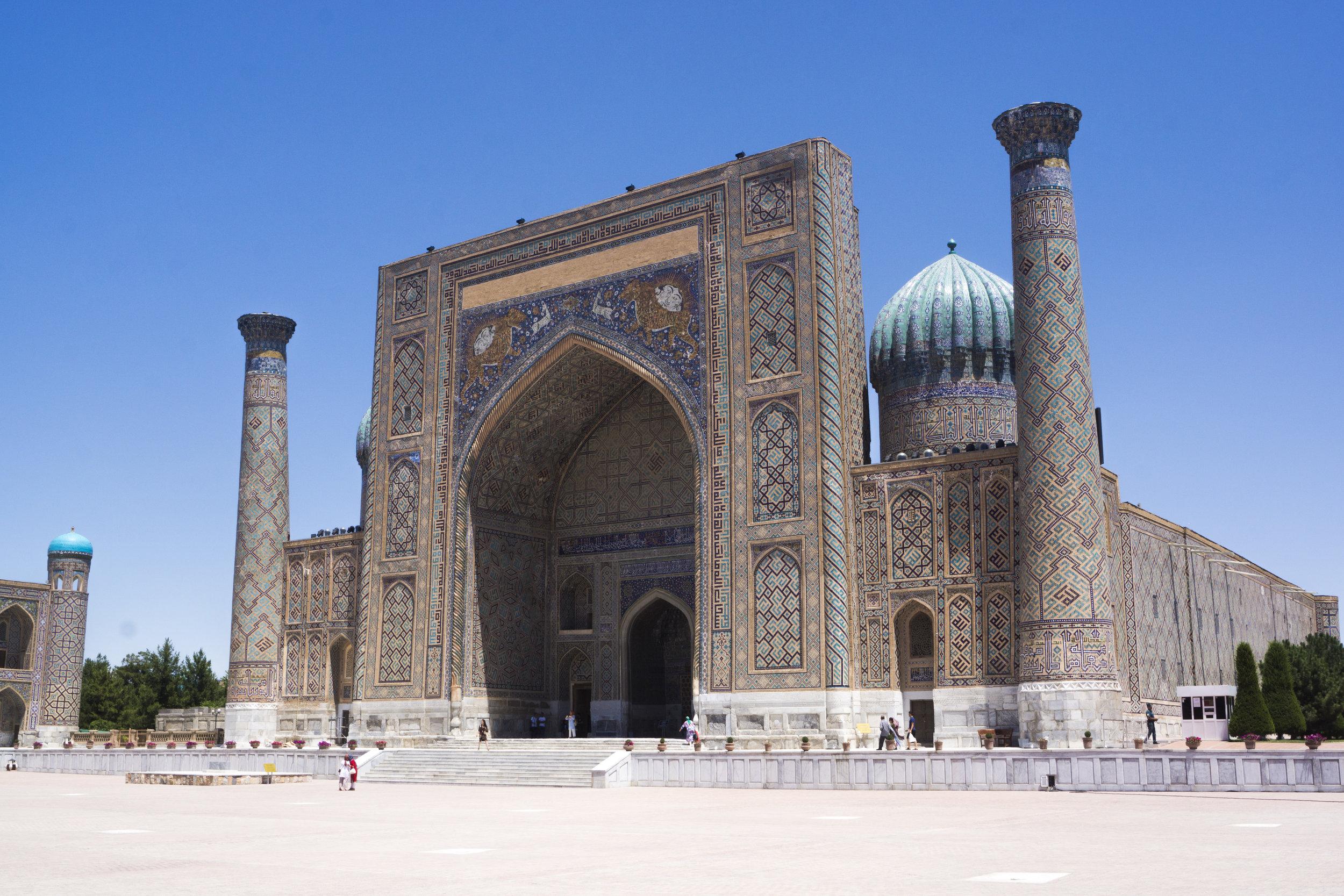 The Sher-Doh Madrasah, in central Samarkand.