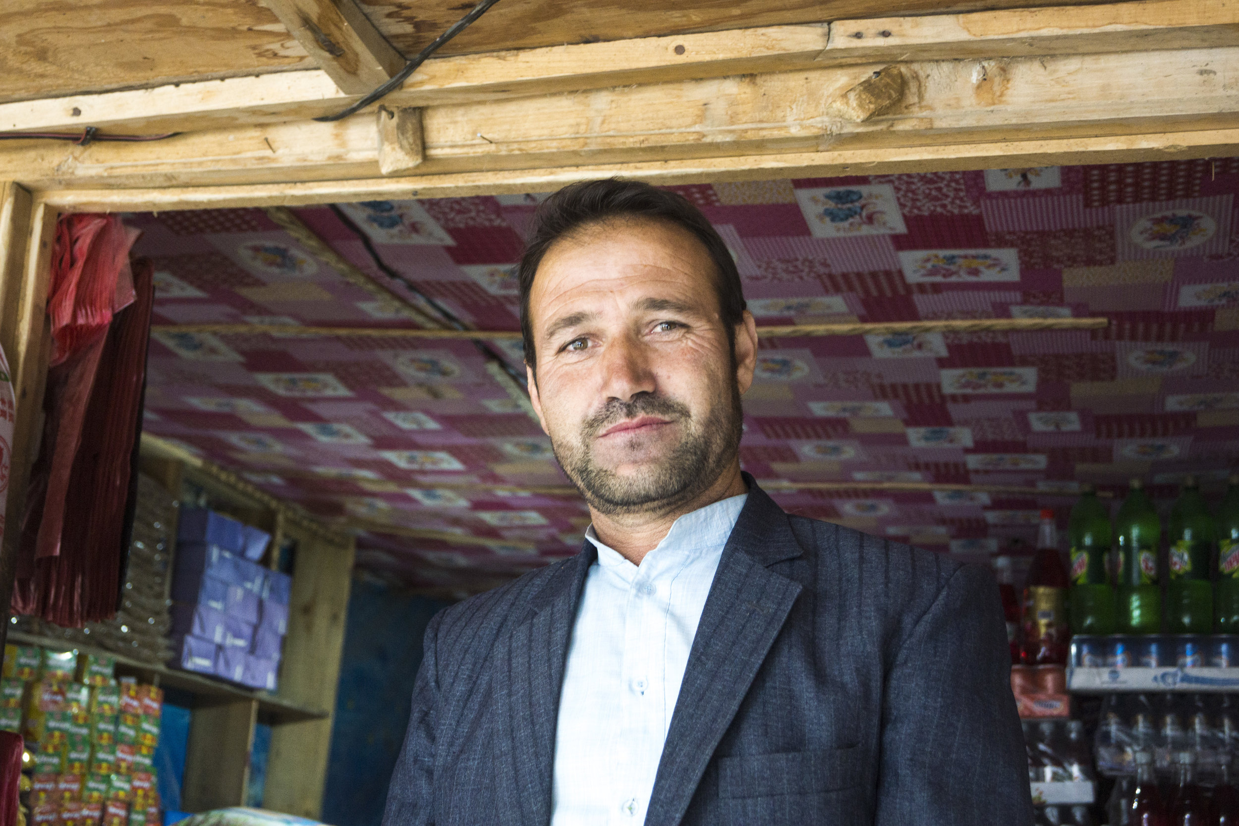 Idi Muhammed, a local shop-keep and Ishkashim's resident English teacher. He has been teaching all of the border guards English in an attempt to broaden their ability to welcome tourists to the region.