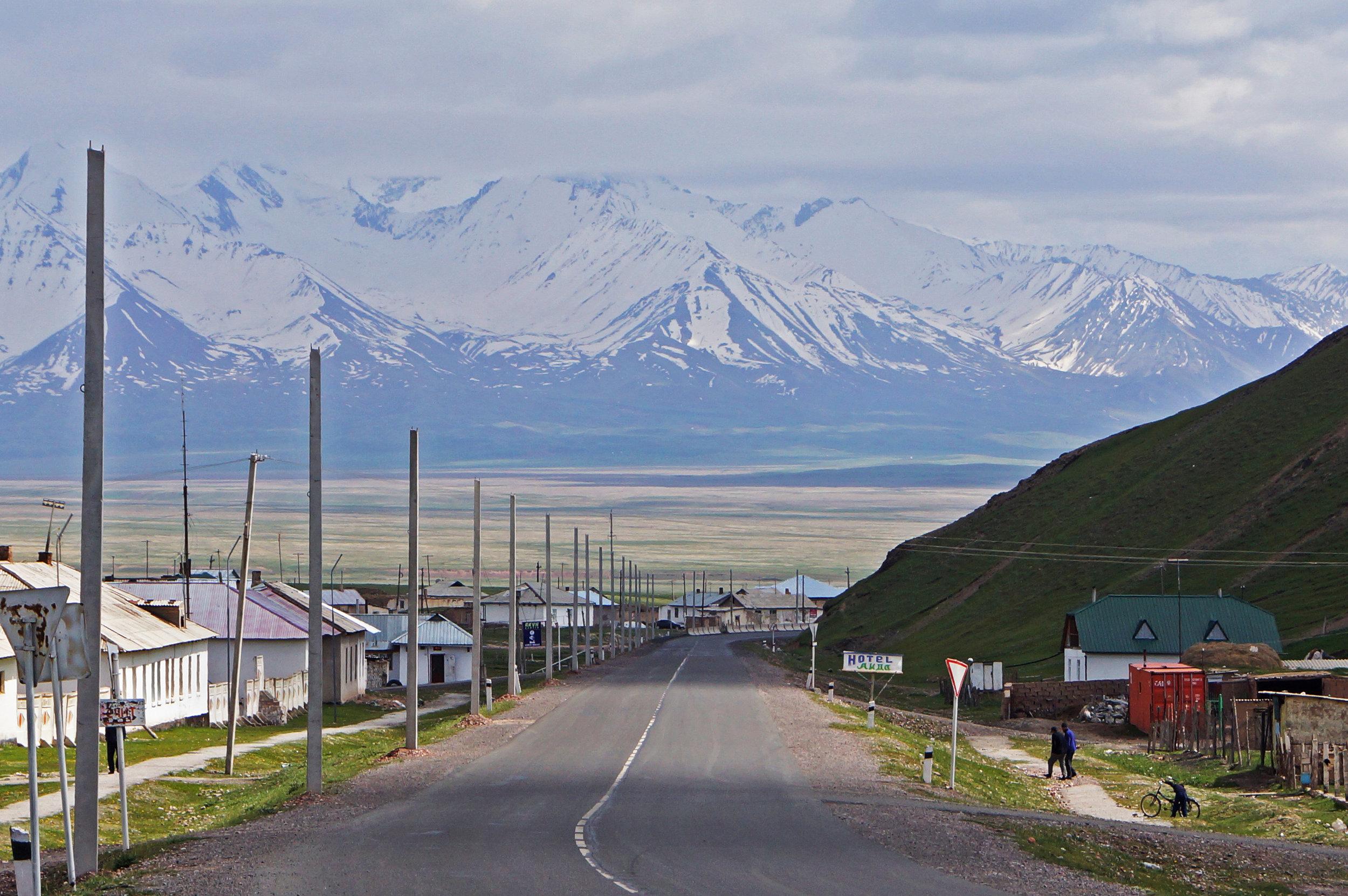 The Wall. Looking towards the Tajik border from Sary Tash, Kyrgyzstan.