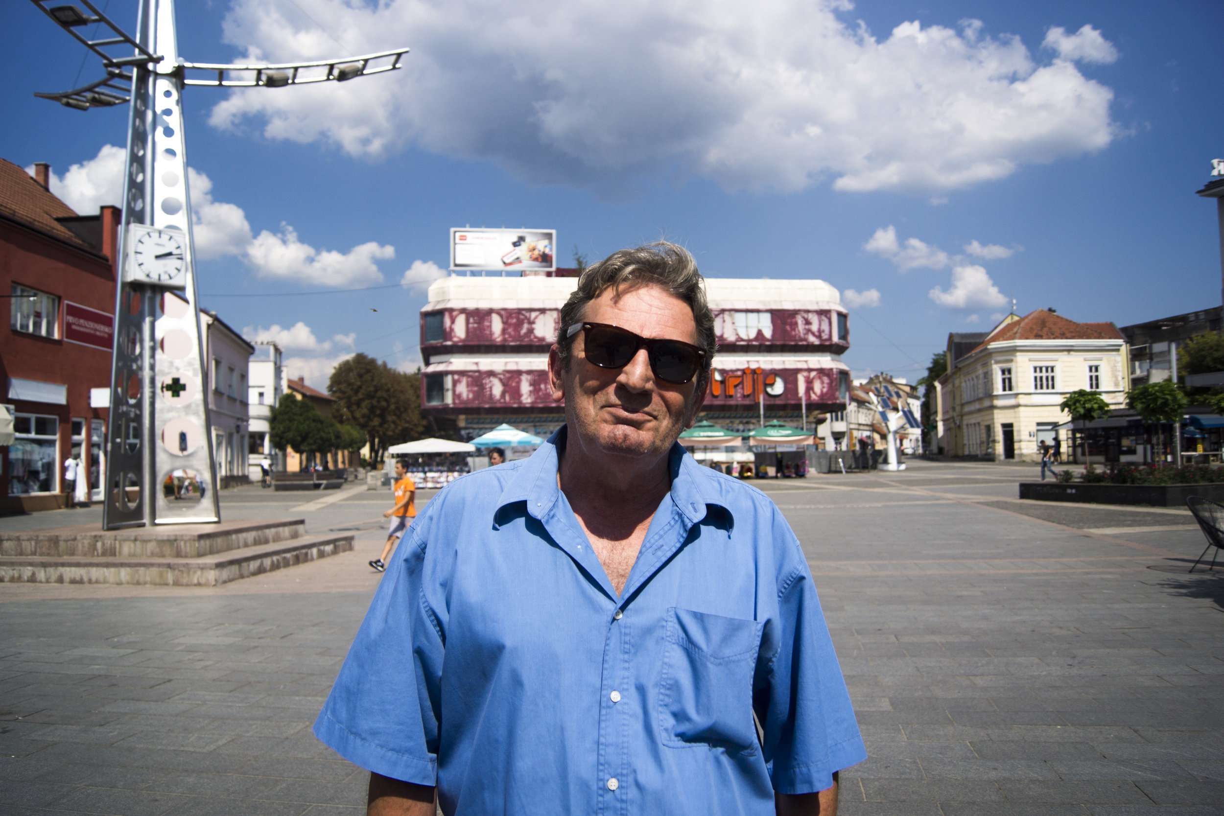 Armin:  My host and self-appointed tour guide in Prijedor, Bosnia.
