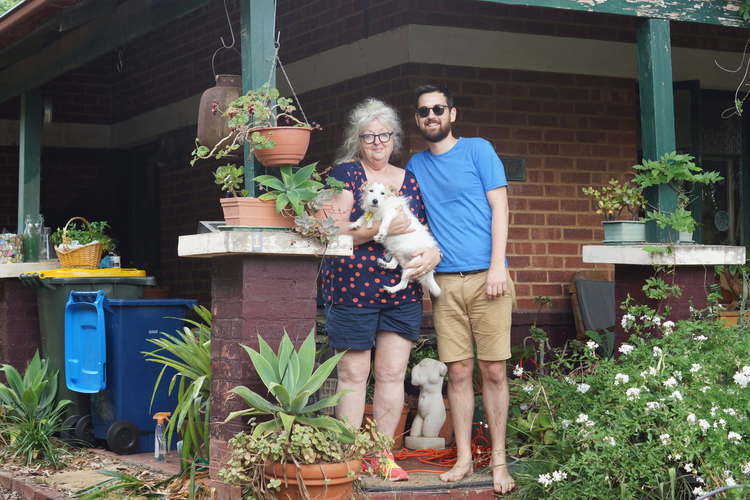 Mum's house, Adelaide. The day before I left.