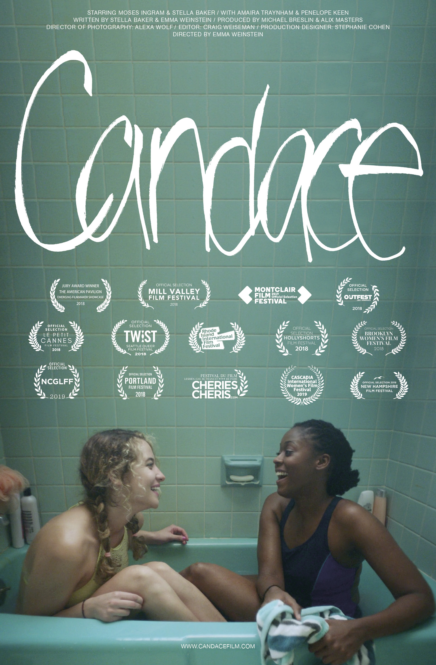 Candace - A 9-minute film by Em Weinstein and Stella Baker filmed in August of 2017 and completed December 2017. Candace has played at film festivals all over the world. Visit www.candacefilm.com for a press kit and more information.