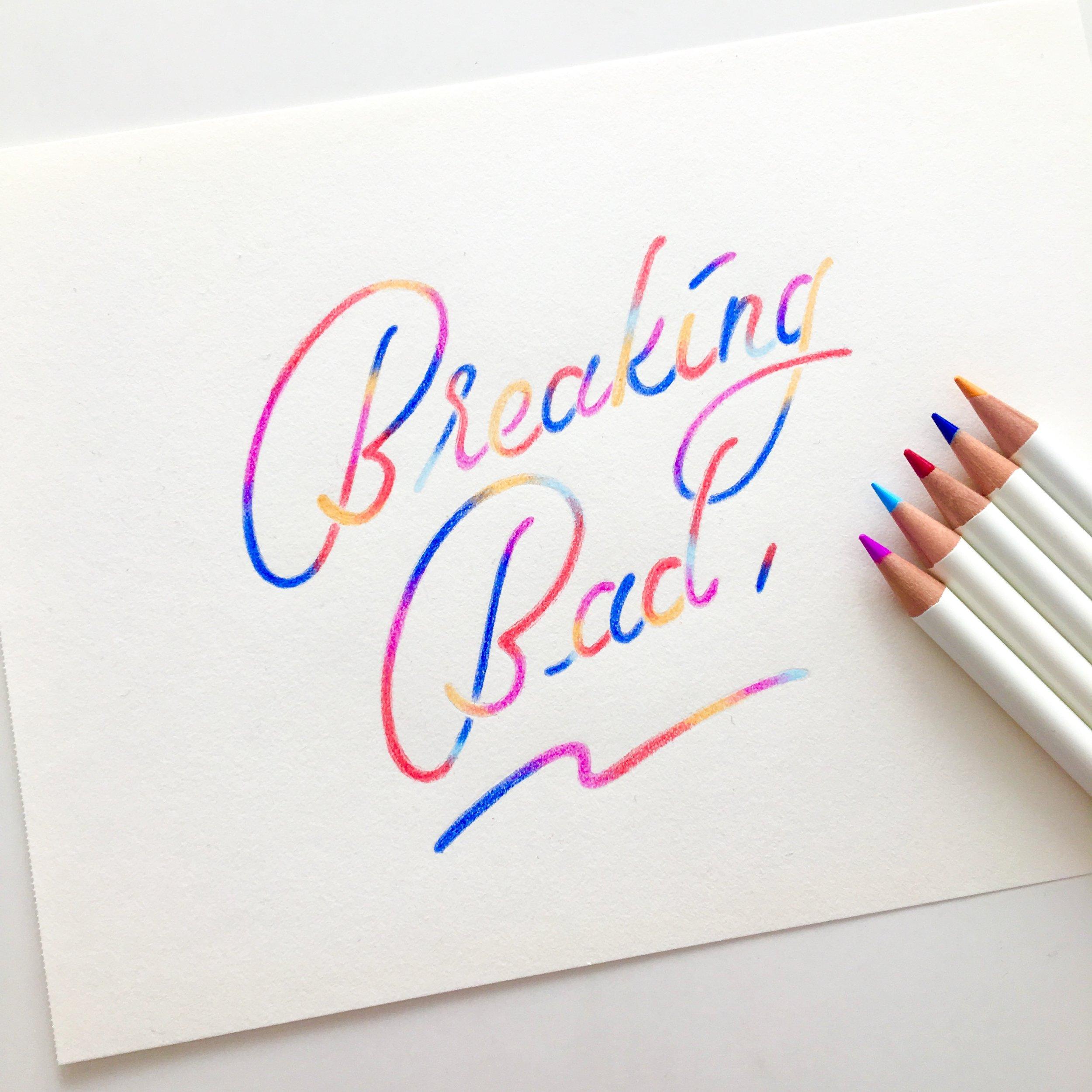 色鉛筆で描いているお気に入りのレタリングシリーズです。 My little series of colored pencil lettering :)