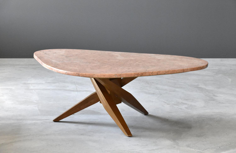 Pink Marble Organic Coffee Table Ponce Berga