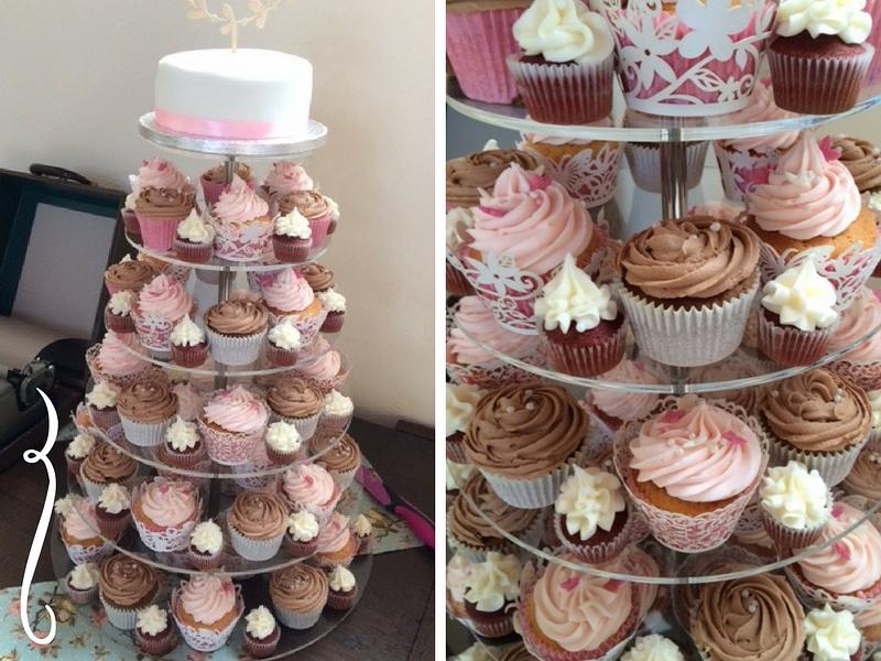 Mr & Mrs Carman - Chocolate & pastel pinks, vintage harmony