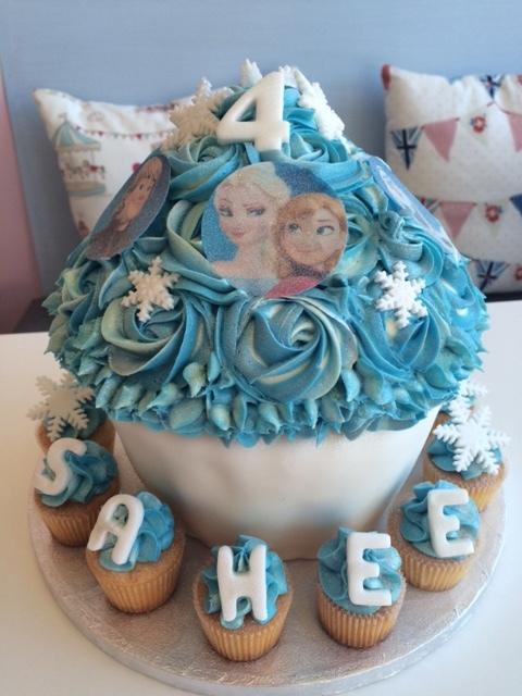 Frozen Giant Cupcake.JPG
