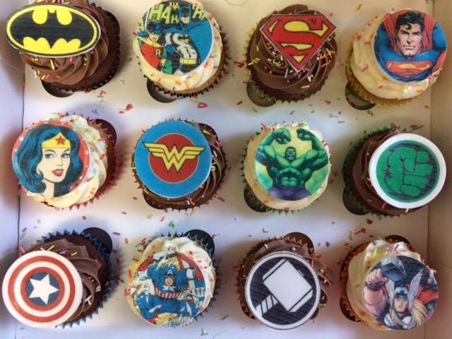 Comic Ricepaper Cupcakes.jpg