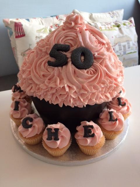 Pink n Black Giant Cupcake.JPG