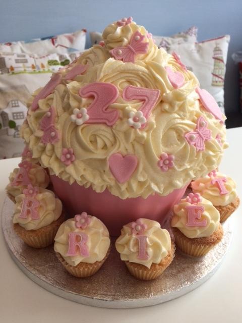 Pink Giant Cupcake.JPG
