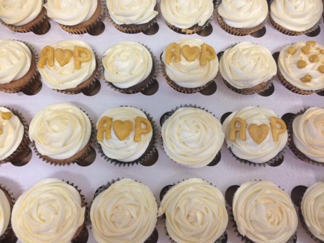 Golden Wedding Cupcakes.JPG
