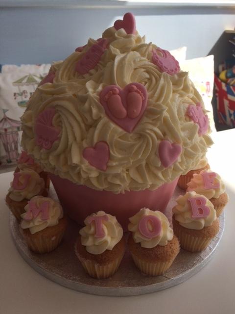 Mum to be baby girl giant cupcake.JPG