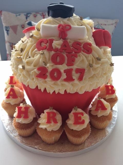 Graduation Giant Cupcake.JPG