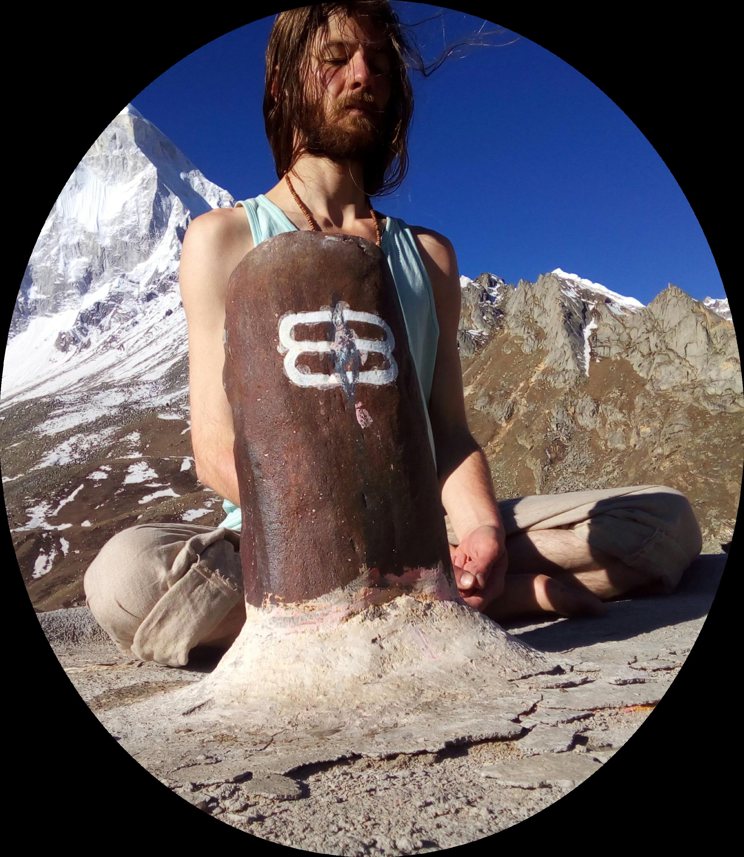 Meditating at Himalayas