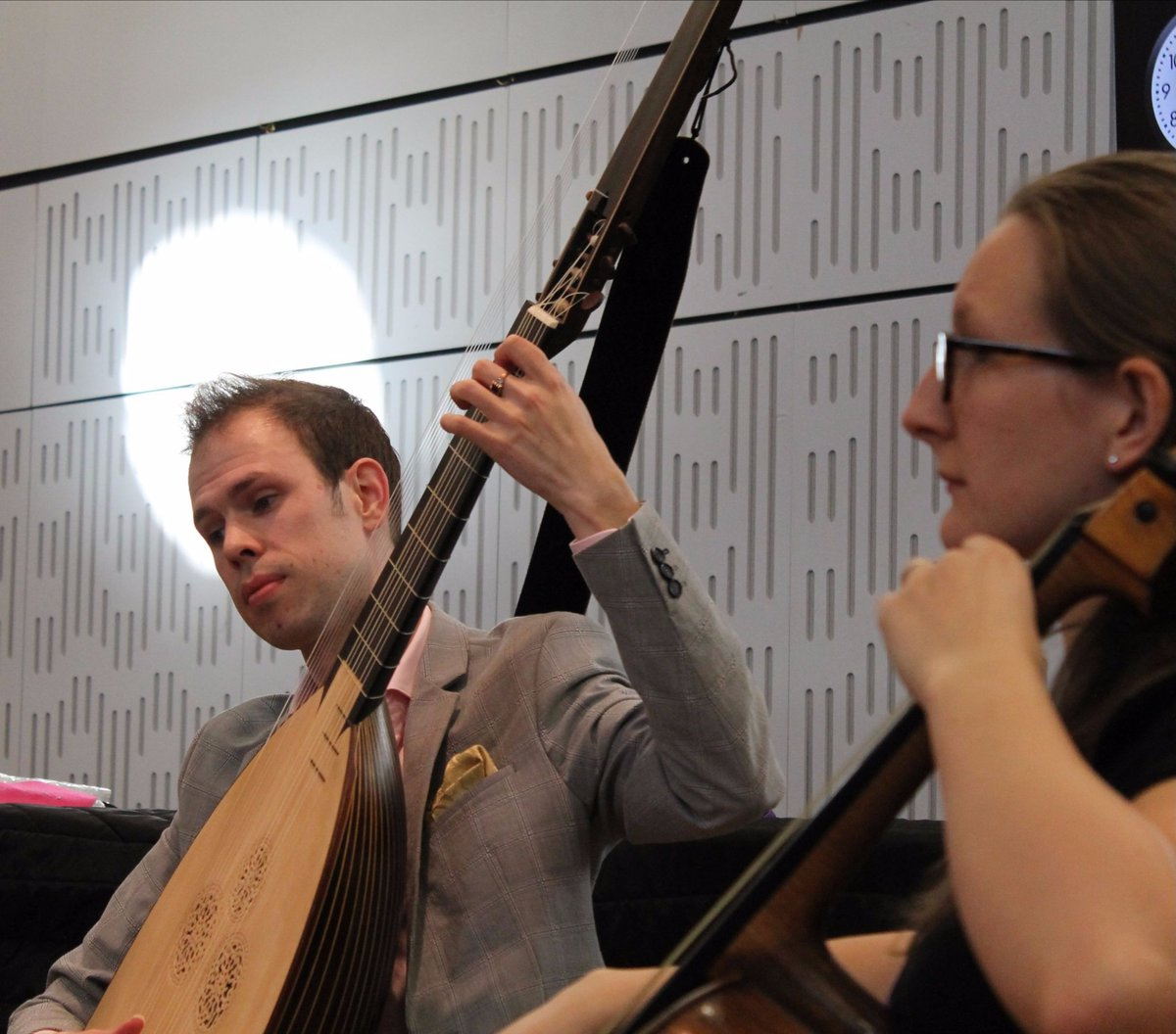Thanks BBC Radio 3 for giving Johan a halo in the studio...