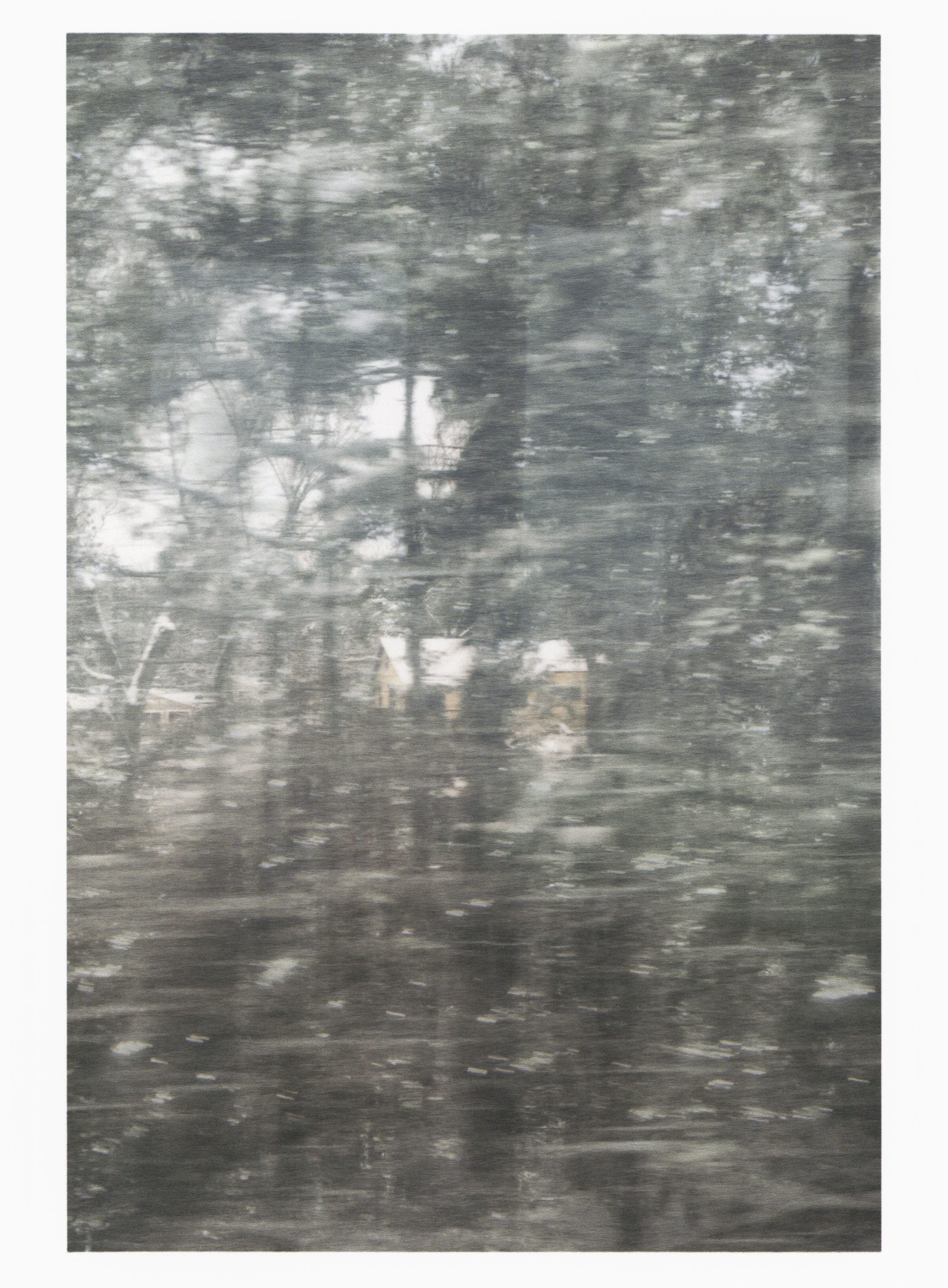 Untitled (glass, forest, house)