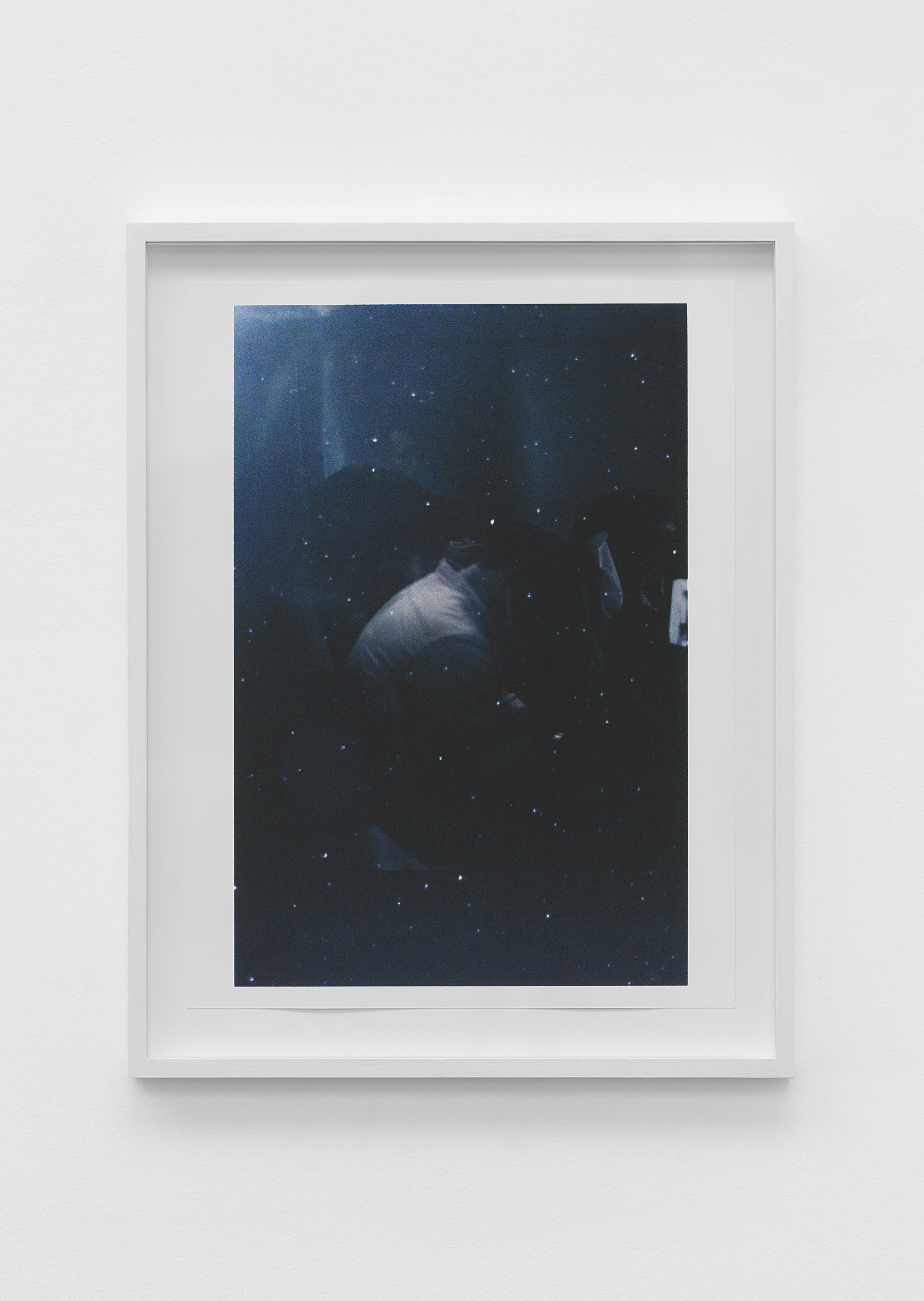 Untitled (figure, glass, stars) , pigment print on paper, sheet: 48.8 × 36.7 cm (19 1/4 × 14 1/2 in), framed: 56.3 × 47.1 cm (22 1/8 × 18 1/2 in), 2019