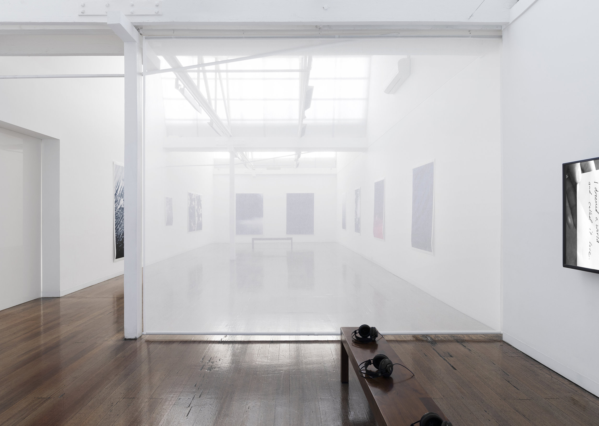 "Installation view of ""the sacredness of something"" at Arc One Gallery, Melbourne (2019)"