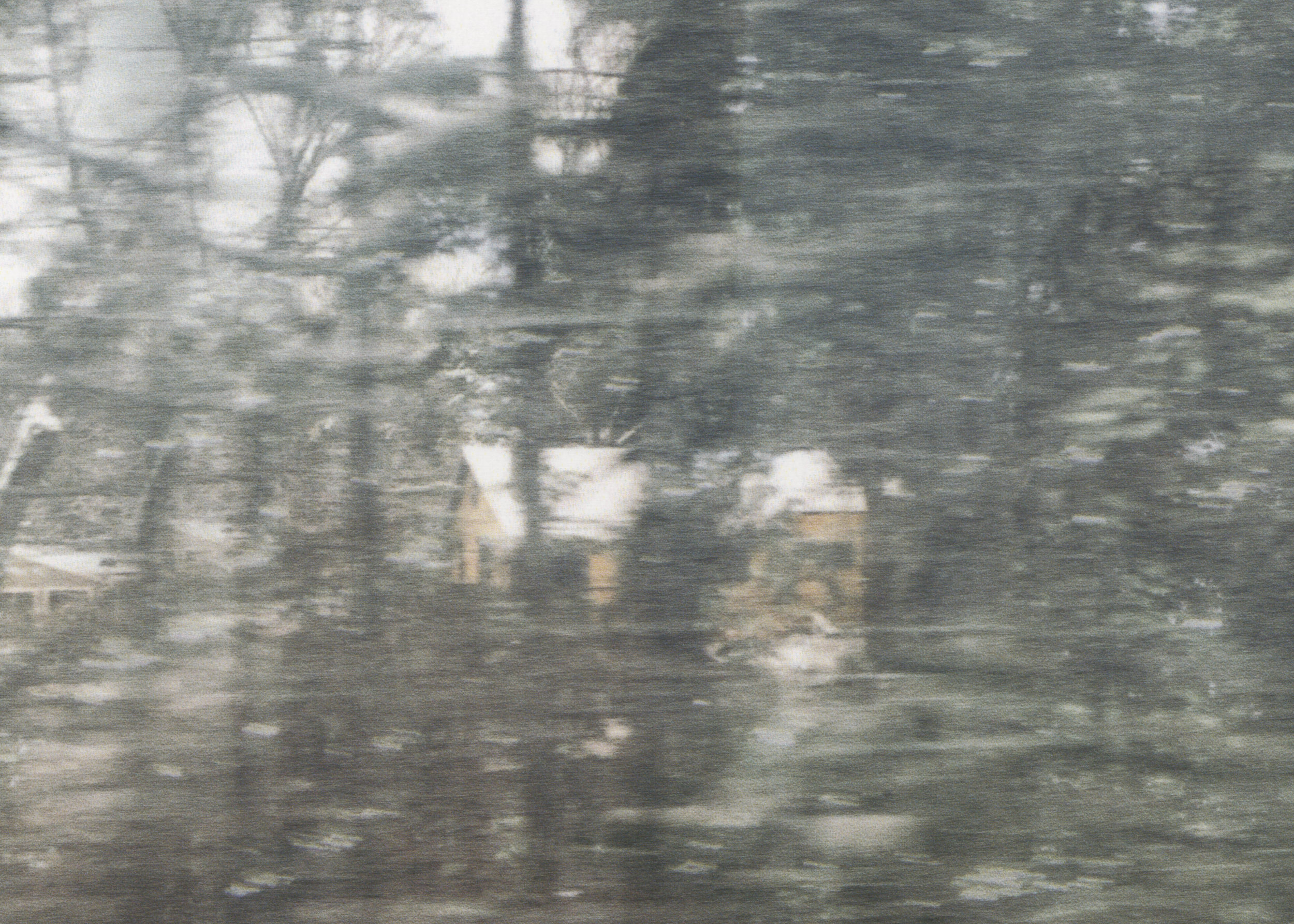 Untitled (glass, forest, house)  (detail), pigment print on paper, sheet: 98.1 × 72 cm (38 5/8 × 28 3/8 in), framed: 109 × 82.4 cm (42 7/8 × 32 1/2 in), 2019