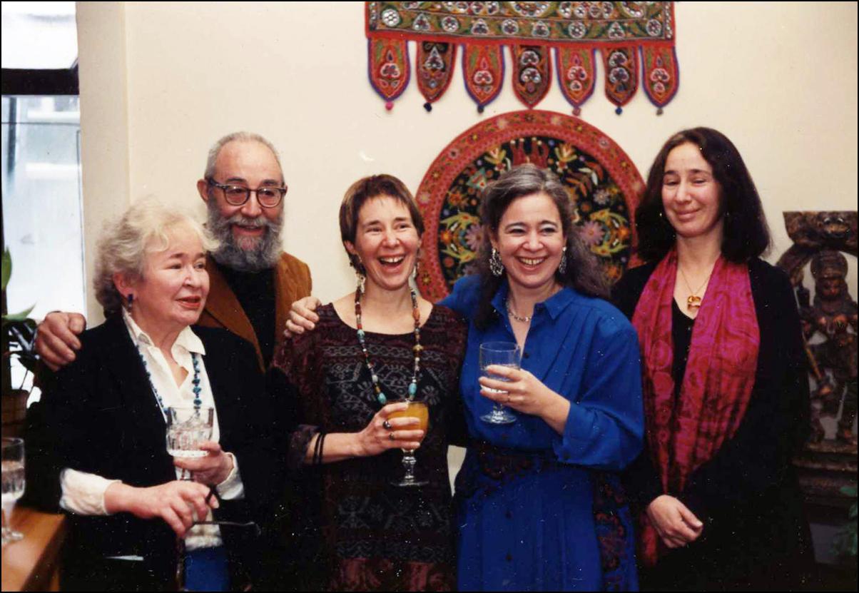 Mary, Roy, Jill, Olga and Mimi Gussow - 1989