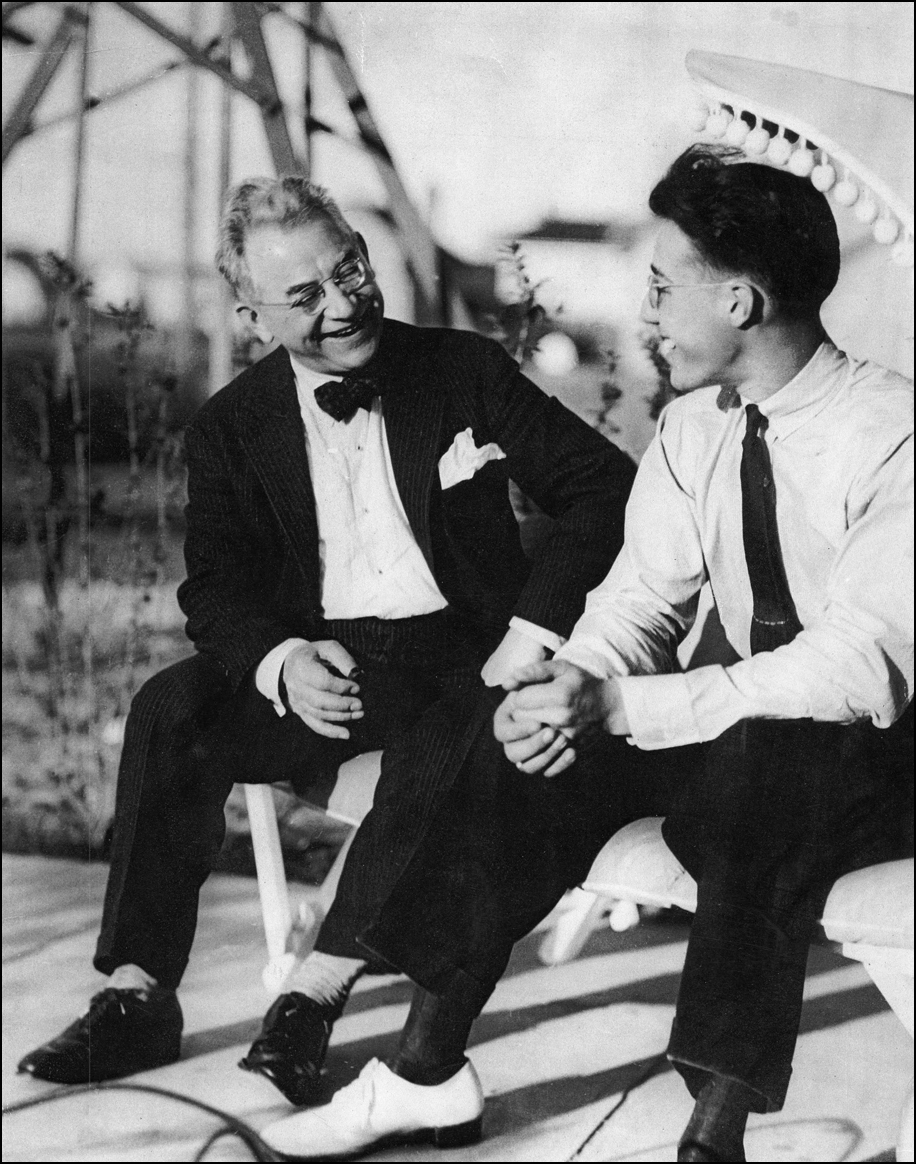 Roy With His Father, Abraham - 1936