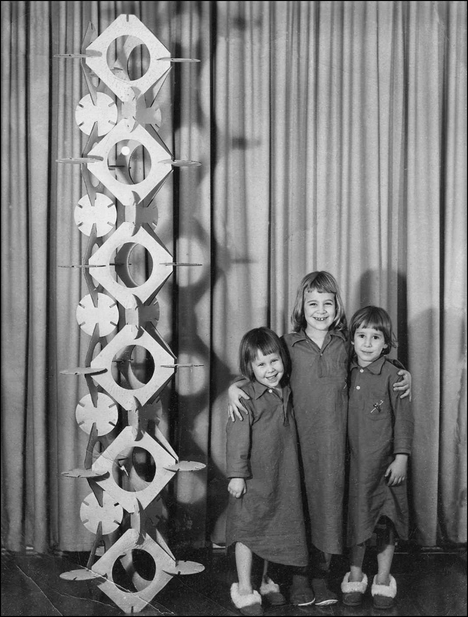 Gussow's Daughters with Modular Structure, made from a toy he designed - 1955