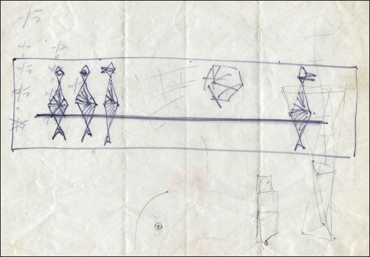 Sketch for Sculpture for the R. S. Reynolds Memorial Award for Architecture - 1967.