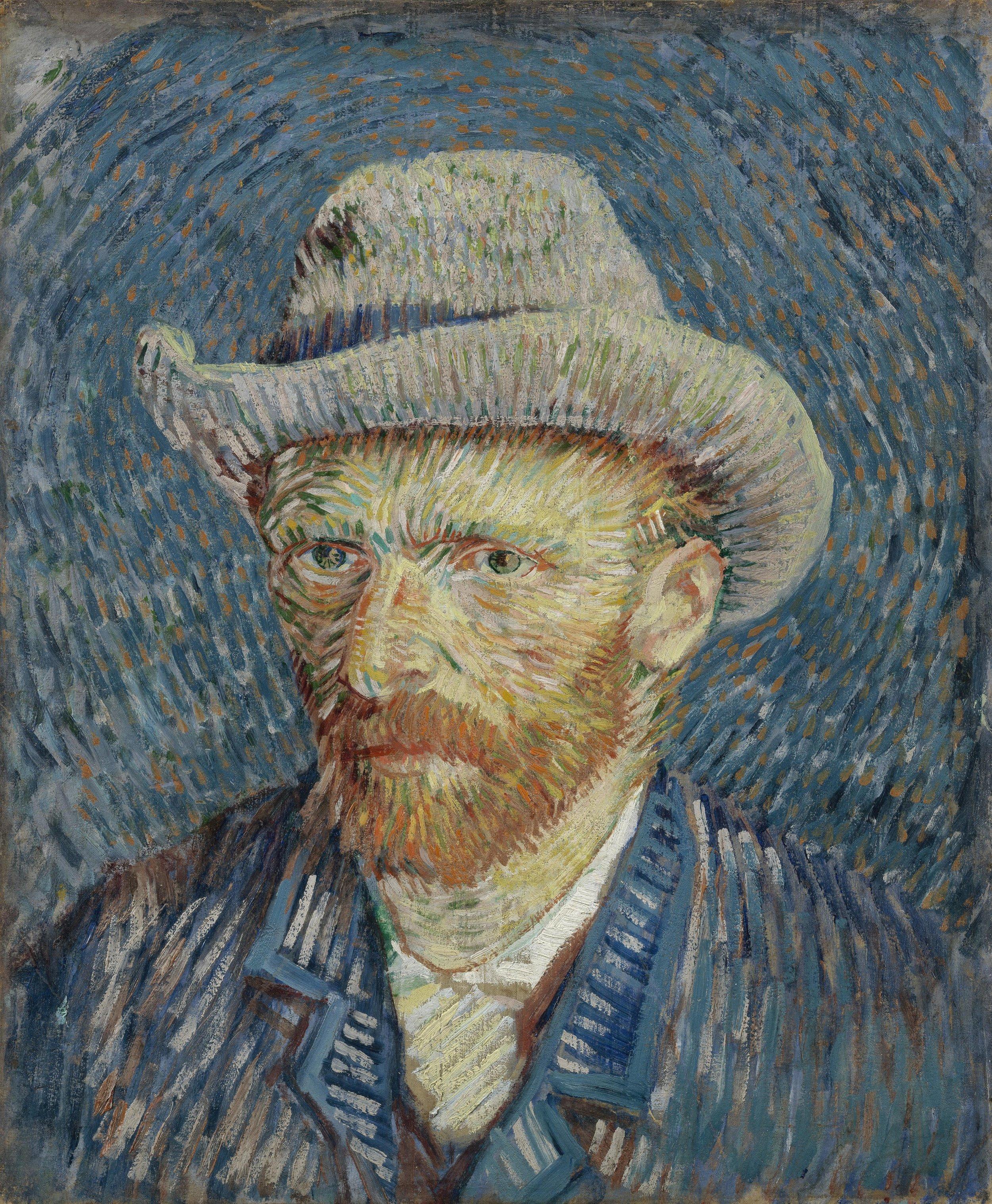 Self-Portrait with Grey Felt Hat - Vincent van Gogh, 1887