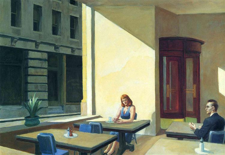 Sunlight in a Cafeteria (1958) by Edward Hopper