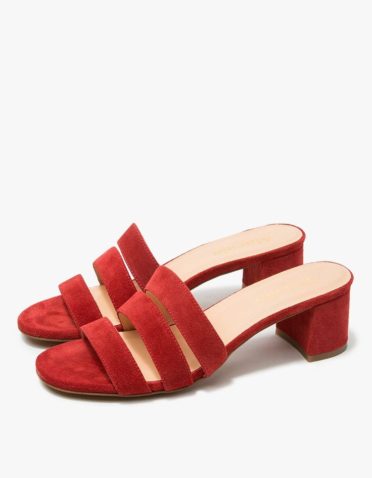 Jane Mule in Cherry Suede by Marais USA