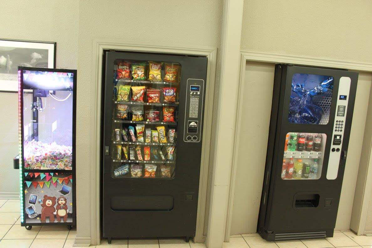 Regularly stocked vending machines