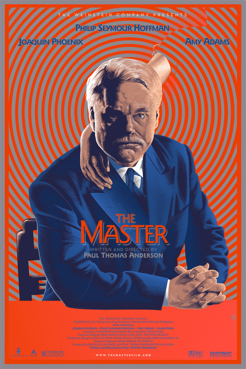 """""""A striking portrait of drifters and seekers in post World War II America, Paul Thomas Anderson's The Master unfolds the journey of a Naval veteran (Joaquin Phoenix) who arrives home from war unsettled and uncertain of his future - until he is tantalized by The Cause and its charismatic leader (Philip Seymour Hoffman)."""""""