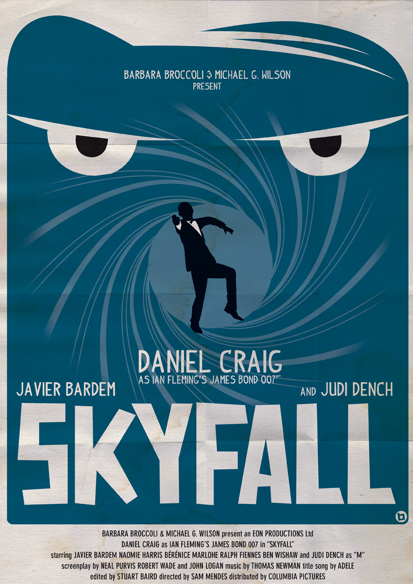 """Art by Alain Bossuyt    """"In Skyfall, Bond's loyalty to M is tested as her past comes back to haunt her. As MI6 comes under attack, 007 must track down and destroy the threat, no matter how personal the cost."""""""