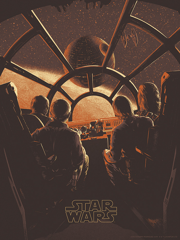 Art by Juan Esteban Rodriguez    The Imperial Forces -- under orders from cruel Darth Vader (David Prowse) -- hold Princess Leia (Carrie Fisher) hostage, in their efforts to quell the rebellion against the Galactic Empire. Luke Skywalker (Mark Hamill) and Han Solo (Harrison Ford), captain of the Millennium Falcon, work together with the companionable droid duo R2-D2 (Kenny Baker) and C-3PO (Anthony Daniels) to rescue the beautiful princess, help the Rebel Alliance, and restore freedom and justice to the Galaxy.
