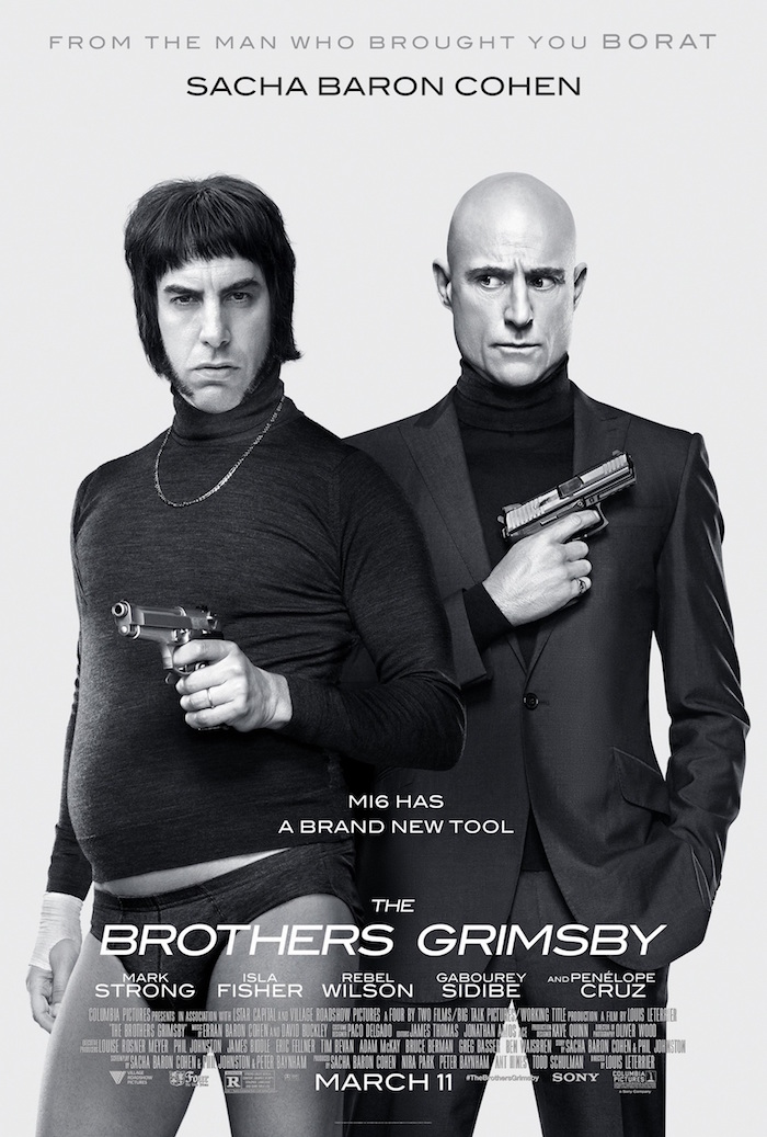 """""""Dimwitted Nobby (Sacha Baron Cohen) lives in an English fishing town with his loving girlfriend (Rebel Wilson) and nine children. For the last 28 years, he's been searching for his long-lost brother Sebastian (Mark Strong). When the two finally reunite, Nobby finds out that his sibling is a top MI6 agent who's just uncovered a sinister plot"""""""